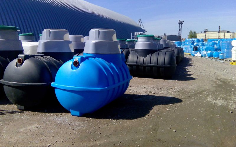 Large Group of Septic Tanks